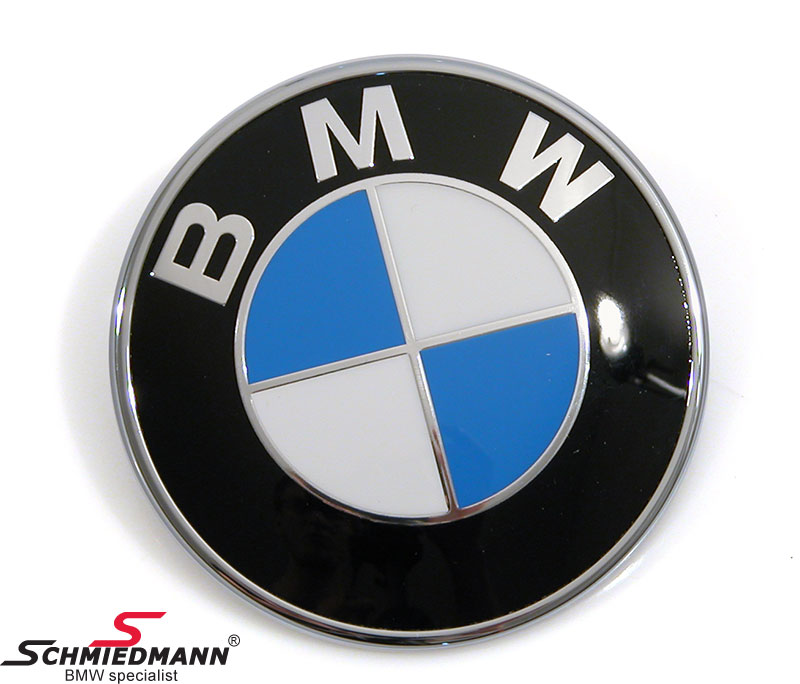 Emblem trunk lid BMW 79MM
