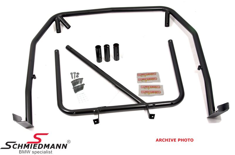 Roll cage Wiechers Sport -Clubsport- black painted steel ST52 45X2,5/40X2MM