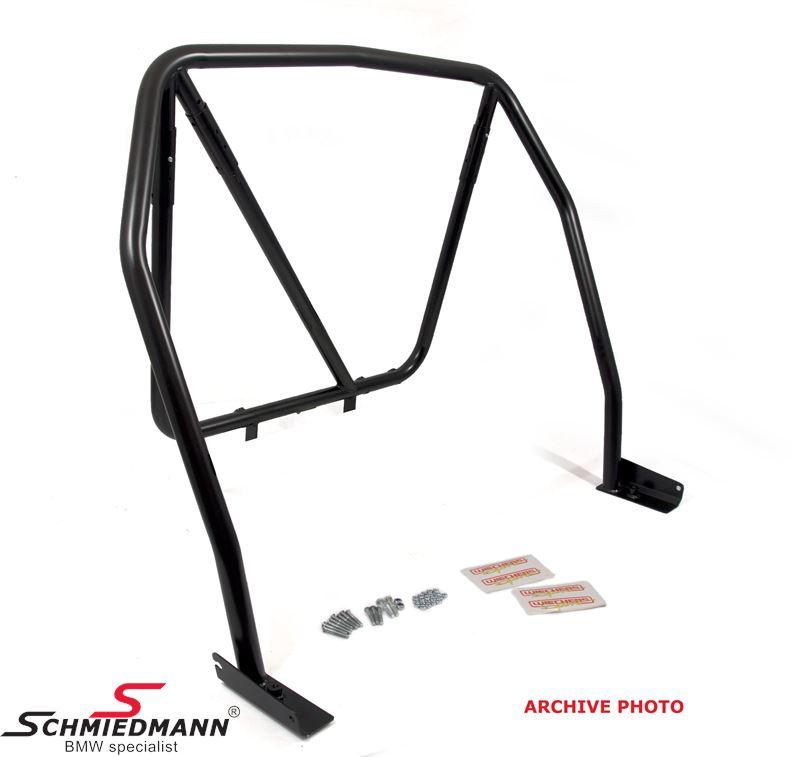 Bur Wiechers Sport -Clubsport- svart lackerad steel 25 Cromo 4, 45X1,5/41,3X1,5XMM