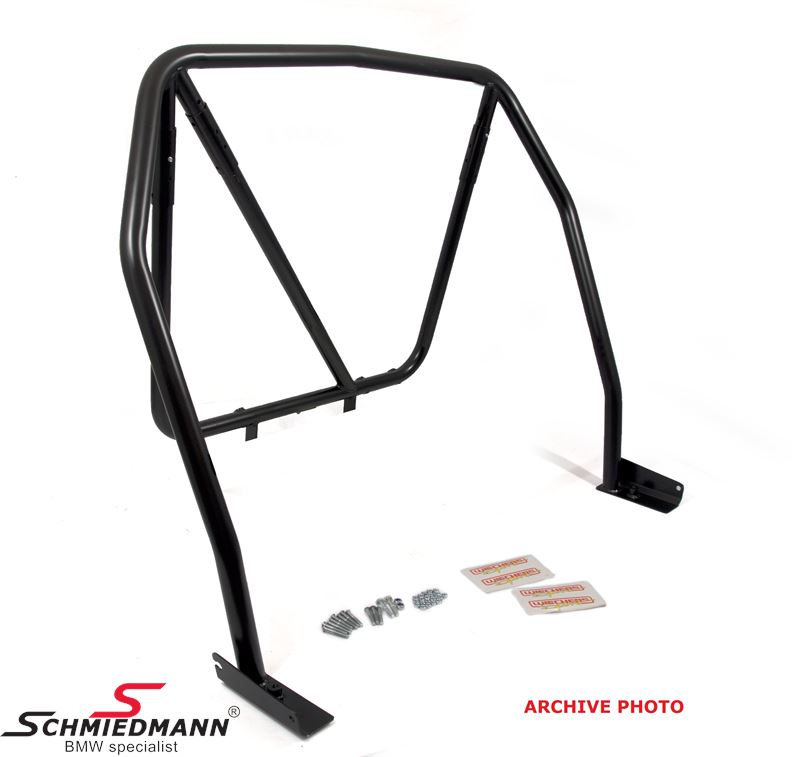 Roll cage Wiechers Sport -Clubsport- black painted steel 25 Cromo 4, 45X1,5/41,3X1,5XMM