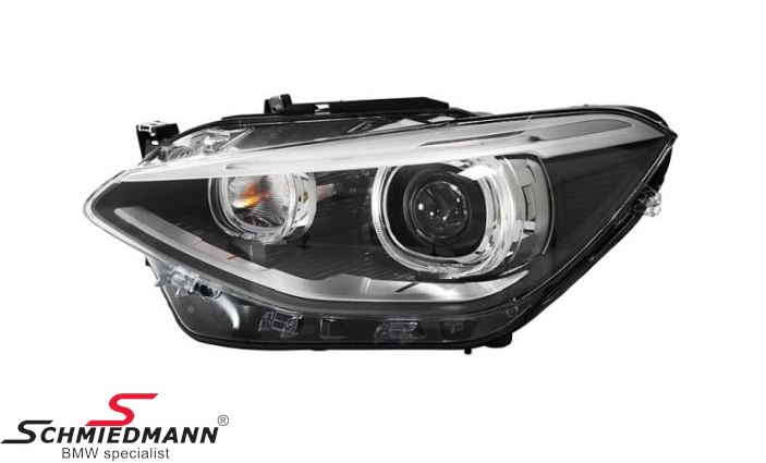 Forlygte D1S/H7 V.-side komplet, bi-xenon/ uden kurvelys - original BMW
