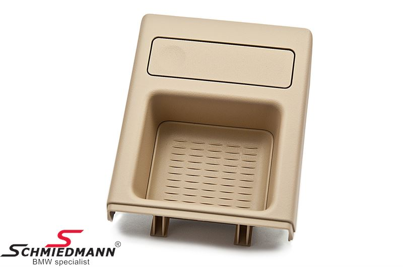 Oddments tray with coinbox for the middle console, beige
