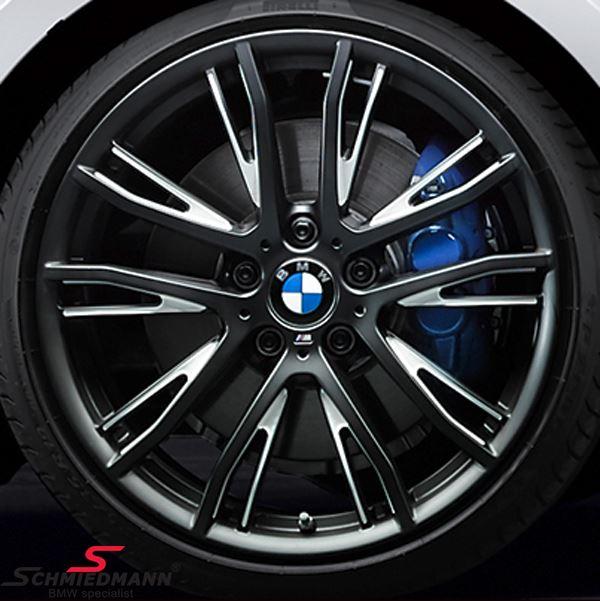 """19"""" M-Doppelspeiche 624 schwarz matt, fælg 8,0X19 ET52 (original BMW passer kun bag)"""