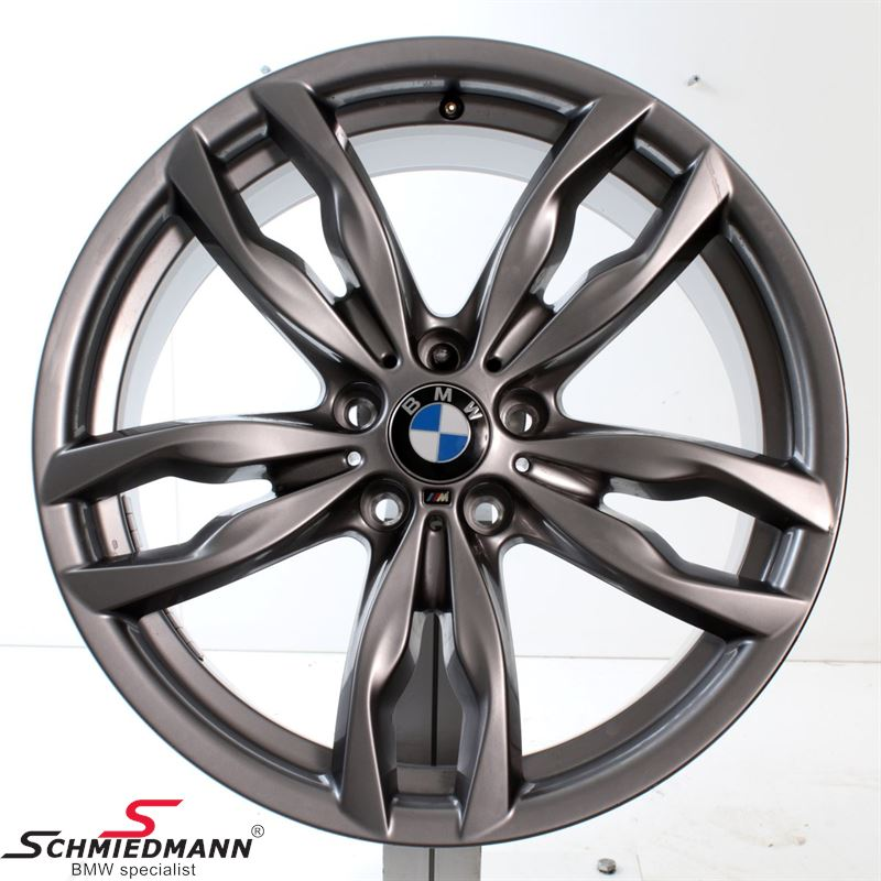 """20"""" M-Doppelspeiche 434 Ferricgrey, fælg 8,5X20 ET33 (original BMW)"""