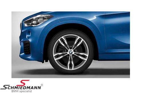 """19"""" M-Doppelspeiche 572M Orbitgrey, fælg 8,0X19 ET47 (original BMW)"""