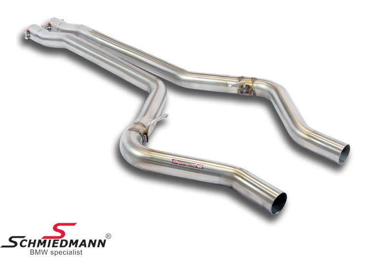 Middle pipe Supersprint -Twin Pipe Design- from the front pipe - to the rear exhaust (Will increase the racing sound)