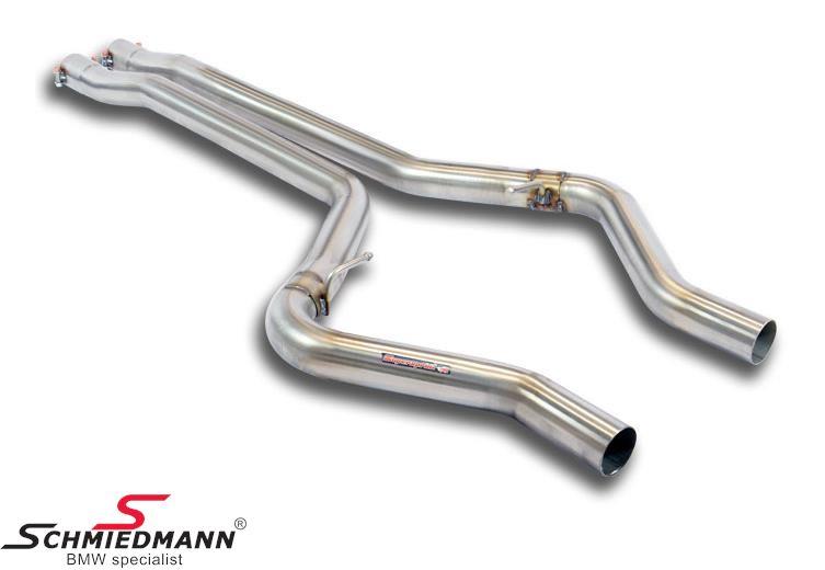Mellemrør Supersprint -Twin Pipe Design- fra forreste mellemrør til bagpotte (Forstærker racing-lyden)