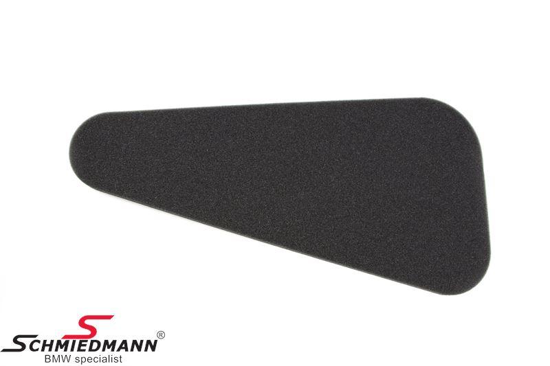 Hood sound insulation, L.-side