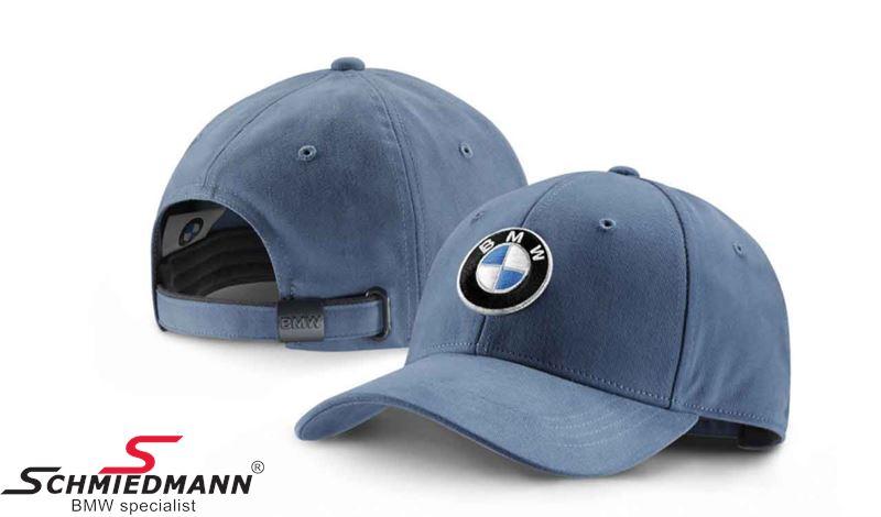 Cap steel blue with BMW logo