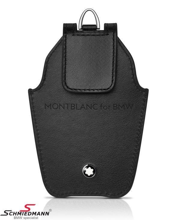 Nøgle etui sort læder MONTBLANC til BMW display nøgle - original BMW