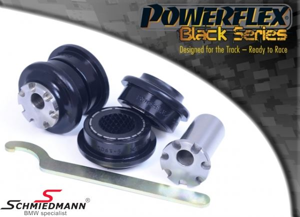 Powerflex PU Buchsen -Black Series- für Querlenker Vorderachse mit Sturzverstellung PFF5-1902GBLK , +/- 0.5° (Pos. 2 in der Zeichnung)