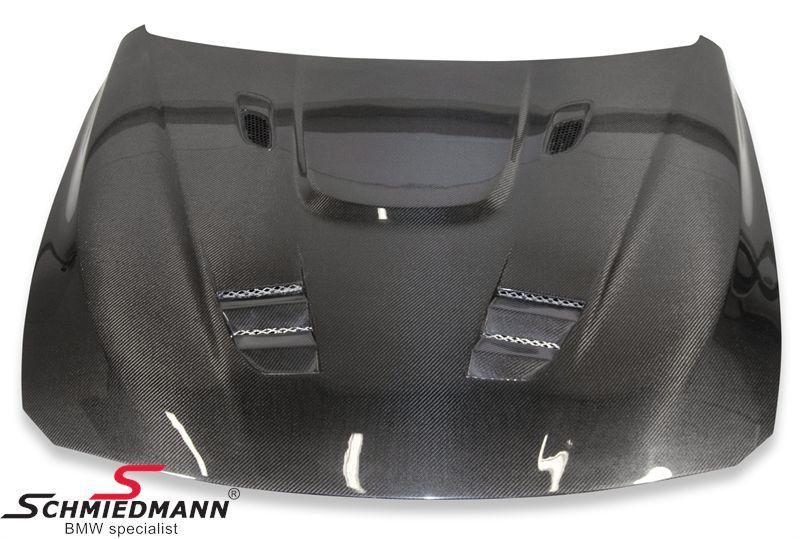 Motorhjelm -EVO II- dobbelt ventileret med powerdome ægte carbon