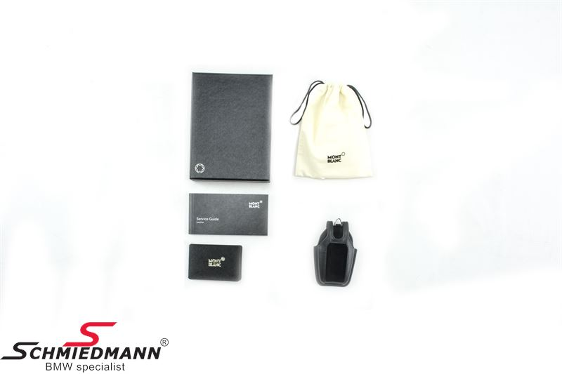 Key Case Black Leather Montblanc For Bmw Display Key