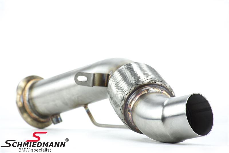 RM Motors diesel partikelfilter-erstatning (downpipe) til bane brug (bemærk, den gule motorlampe vil lyse, hvilket ikke vil have betydning, skal lampen slukkes skal ske via omprogramering)