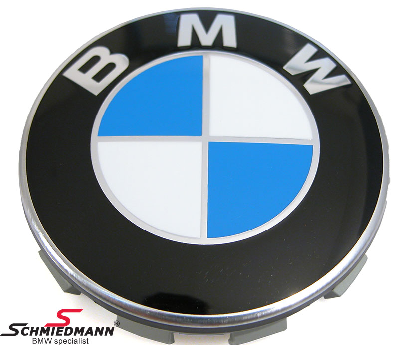 Center cap inclusive emblem with chrom rim D64,5MM