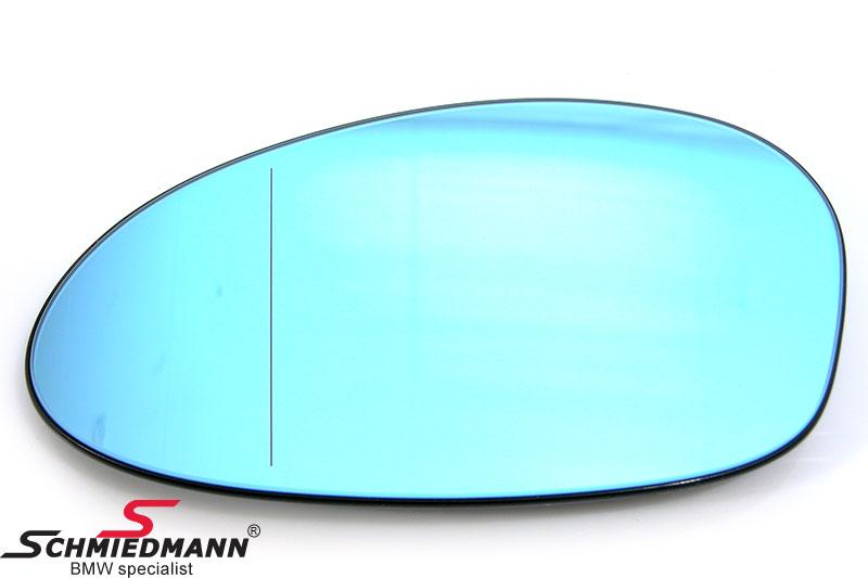 Sidespejl-glas tonet/med varme vid-vinkel V.-side