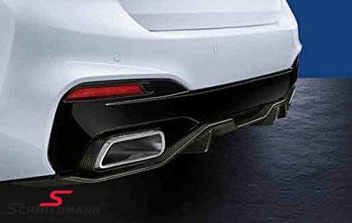Rear diffuser carbon -BMW ///M-Performance- for M-Technic rear skirt/M-Aerodynamic rear bumper