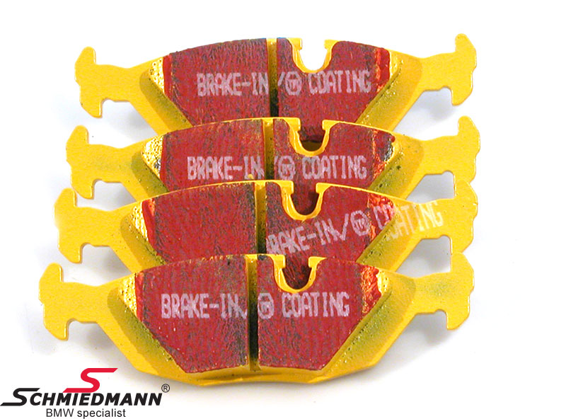 Racing brake pads rear EBC yellow stuff (for road and racetrack)