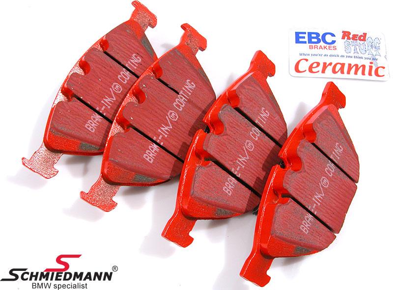 Racerbremseklodser for EBC red stuff  (til gade og ekstrem kørsel)