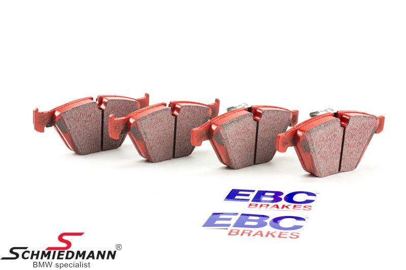Racingbromsbelägg fram EBC red stuff (for road och extreme driving)