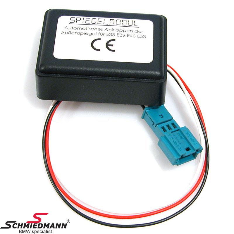 Elektriskt fällbara sidospeglar modul, fäll in eller ut speglarna via fjärrkontrollen