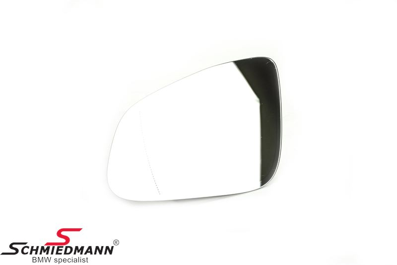 Side-view mirror glass M-technik wide-angle tinted/heated L.-side