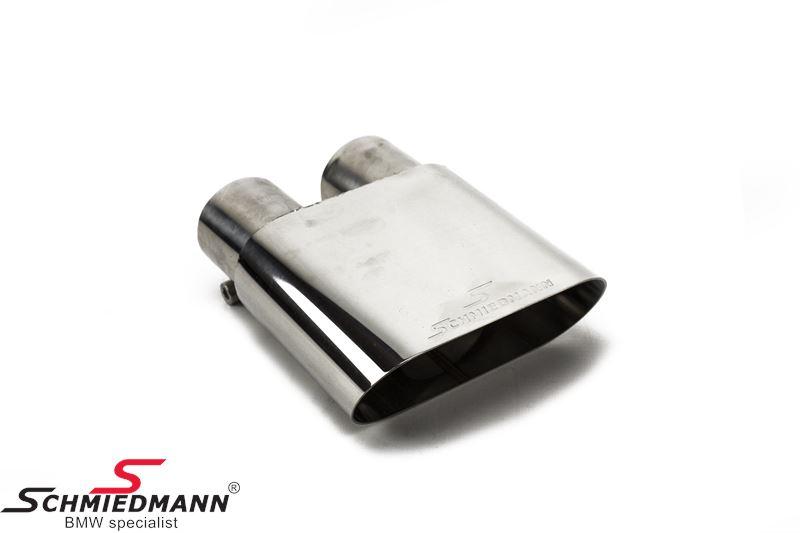 Schmiedmann krom-rørhale med skarp afslutning (ikke rullet) 140X60MM flad oval rørhale