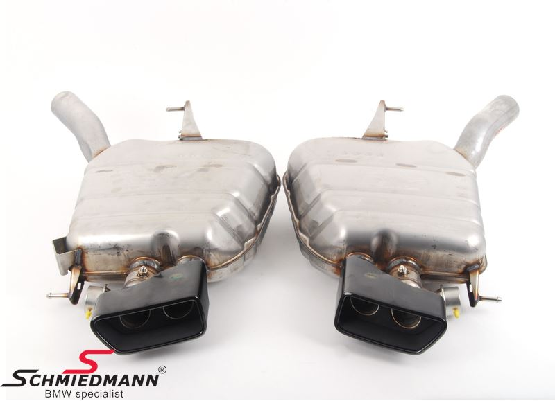 Sport rear silencer set stainless steel original BMW -///M-Performance- super lightweight-