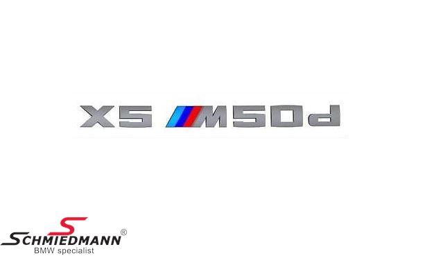 Emblem X5 ///M50D for the trunk lid
