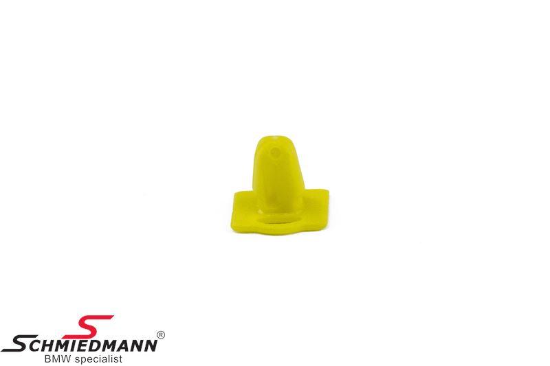 Klips til indstigningsliste, gul