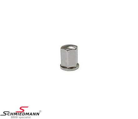 Cap nut chrome M6 for engine cover
