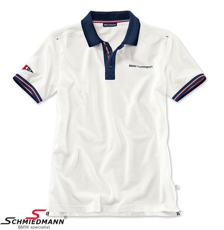 Poloshirt, Men´s -BMW Yachtsport- White, Size L