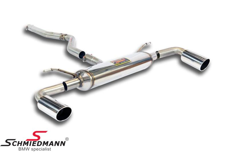 Sport rear silencer and connecting pipe Supersprint with round tailpipes L.+R.-side D=90MM