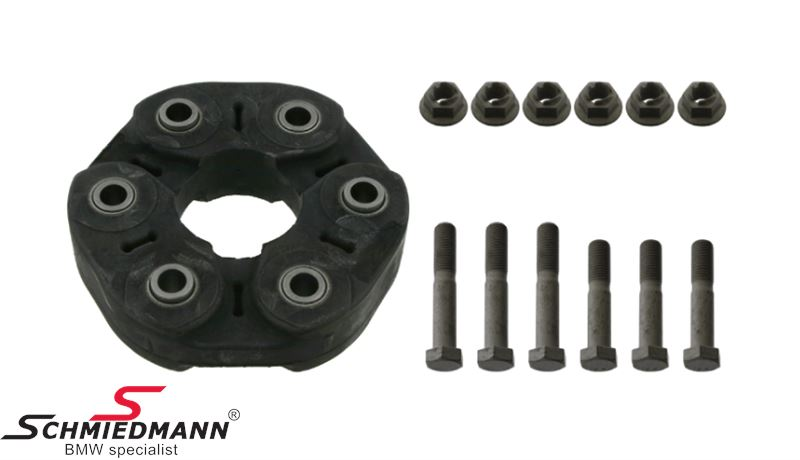 Universal joint, set with bolts and nuts, bolt hole 110/12MM