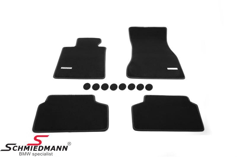 Fussmatten vorne/hinten original Schmiedmann -Exklusiv- schwarz extra dick