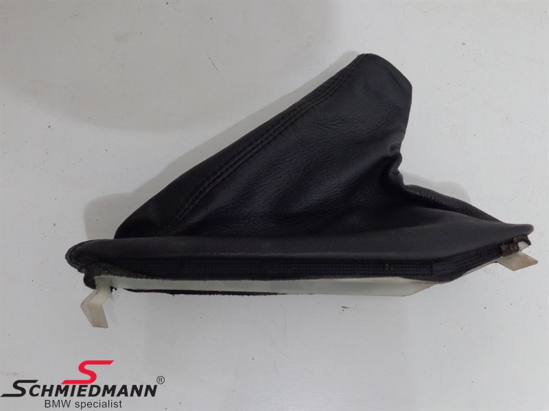 Handbrake manchet black leather