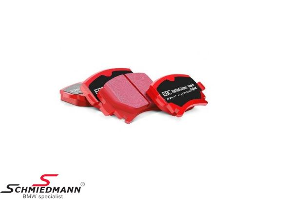 Racingbromsbelägg bak EBC red stuff (for street och extreme driving)