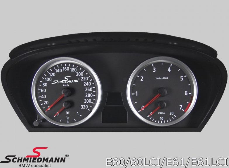 Schmiedmann instrument-kombi 320km/t. ombygning inkl. Schmiedmann logo