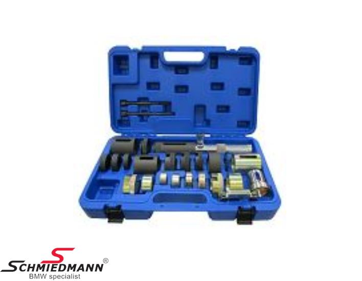 Hydraulic wishbone/rod bush remover/installer special tool set (the hydraulic pump must be bought separately)