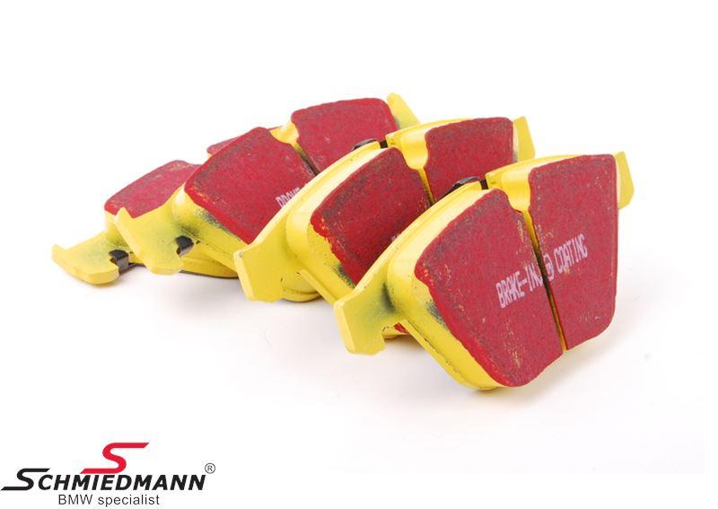 Racingbromsbelägg fram EBC gul stuff (Sportbelägg för gata och bana)