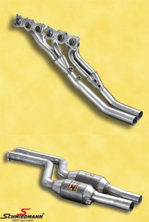 Bananmanifold inkl. high flow metal-kat.-system Supersprint