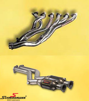Bananmanifold inkl. high flow metal-kat.-system Supersprint