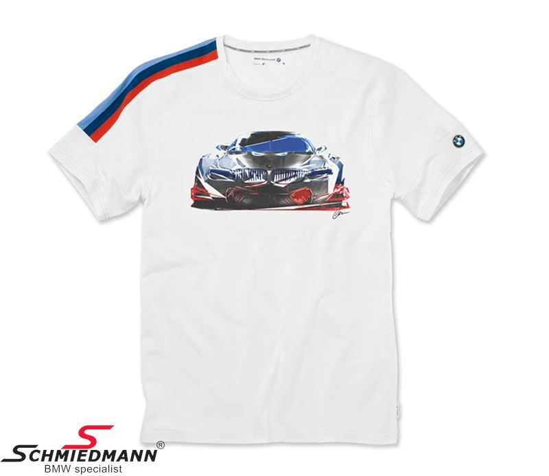 T-shirt -BMW Motorsport- Motion white, mens size S