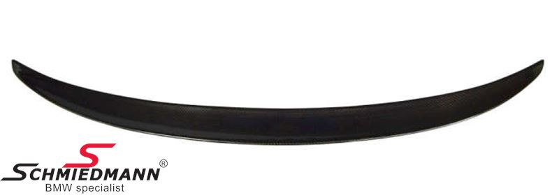 Rear spoiler genuine carbon