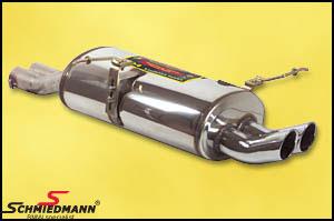 Sportsbagpotte rustfrit stål Supersprint med 2XØ70MM DTM runde rørhaler
