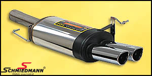 Sportsbagpotte rustfrit stål Supersprint Class med 2 X 95X80MM rørhaler
