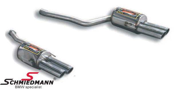Sportsbagpotte sæt H.+V.-side rustfrit stål Supersprint med 4 XØ90MM rørhaler