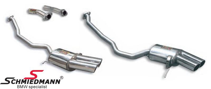 Sportsbagpotte sæt H.+V.-side rustfrit stål Supersprint 4 X90X85MM rørhaler