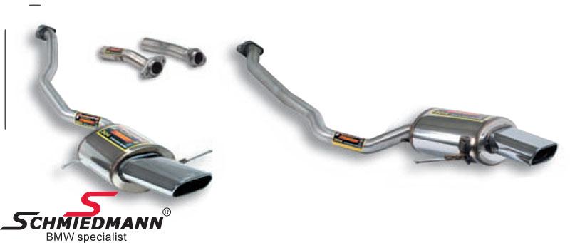 Sportsbagpotte sæt H.+V.-side rustfrit stål Supersprint 2 X 145X75MM flad ovale rørhaler