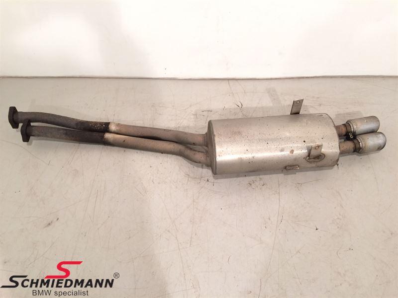 Schmiedmann stainless steel sport rear silencer 2XØ76MM (with interchangeable tailpipes)